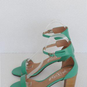 Sandale verzi piele naturala