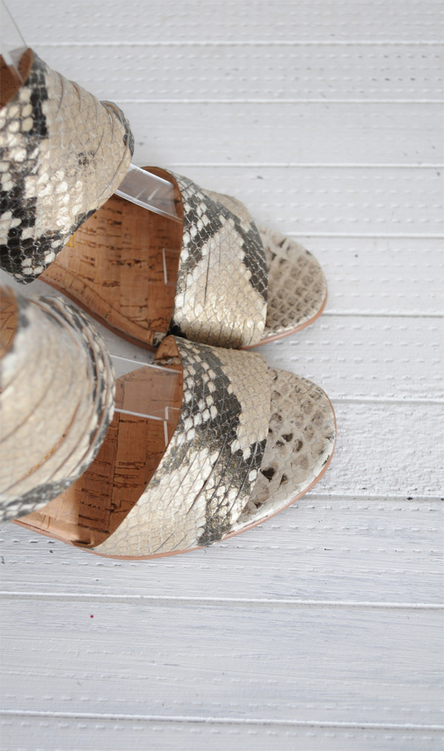 Sandale animal print piele naturala