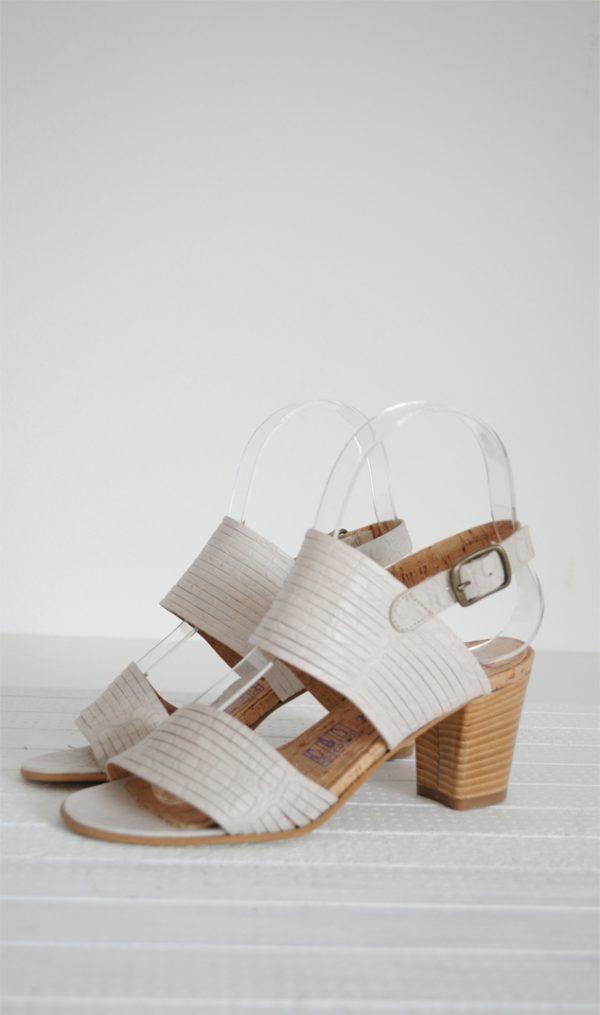 Sandale nude piele naturala