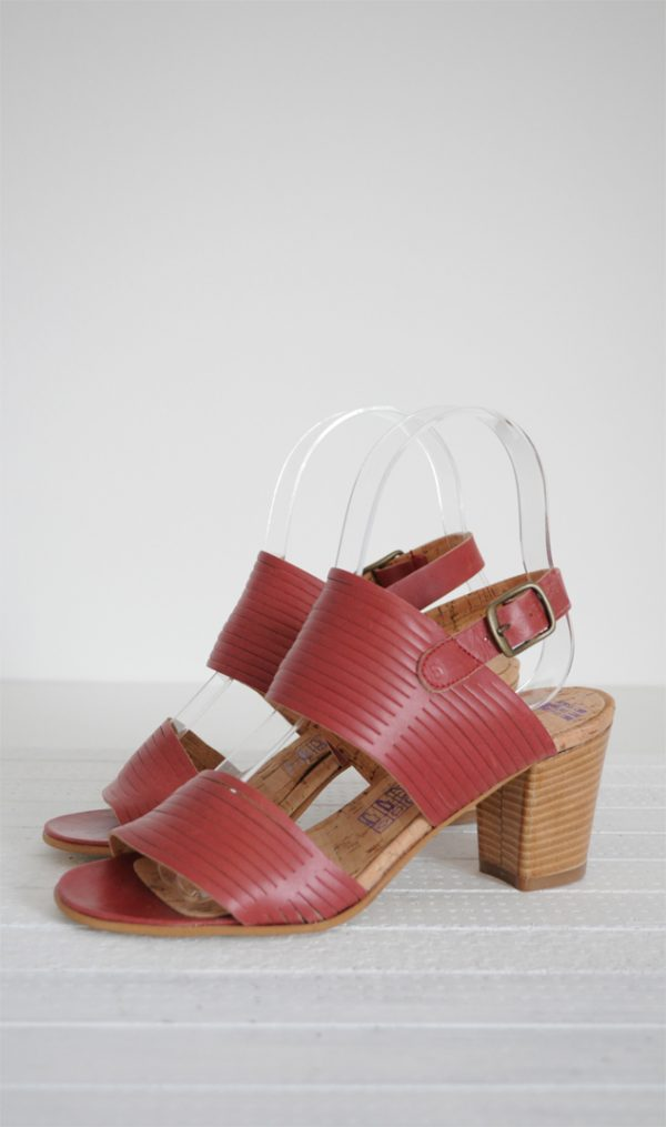 Sandale roz inchis piele naturala