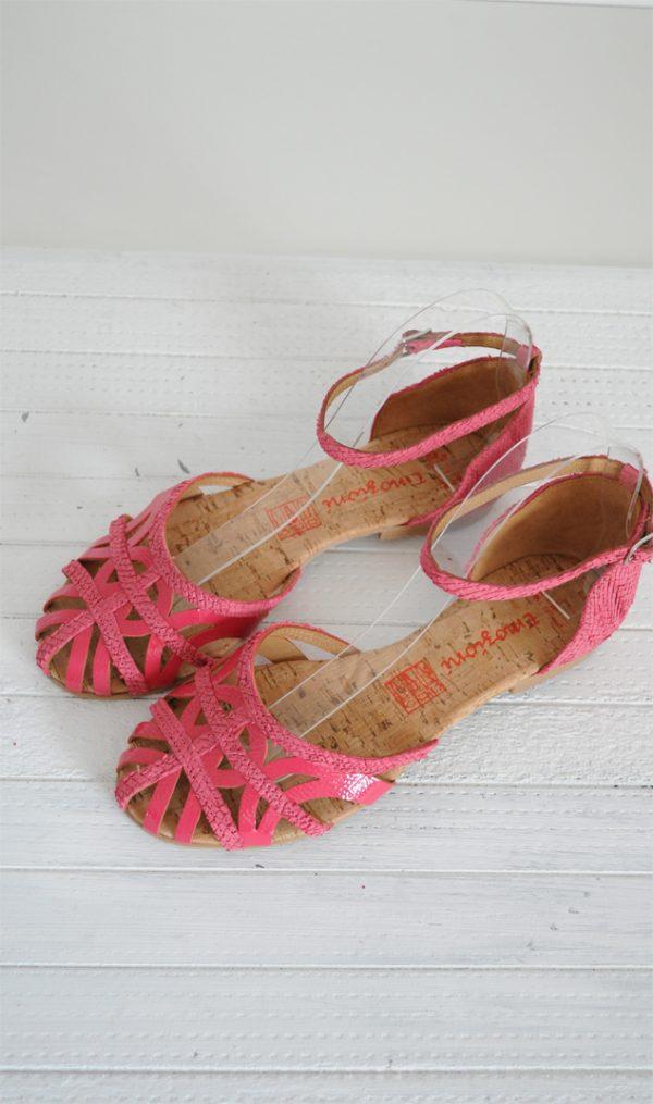 Sandale paianjen roz inchis