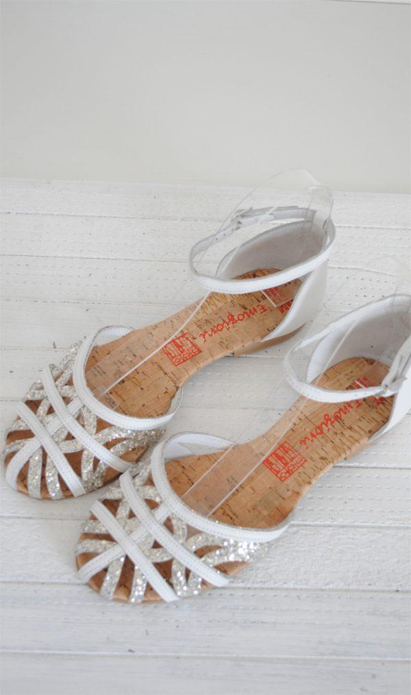 Sandale paianjen argintii