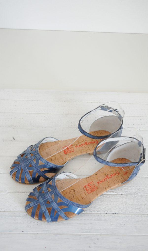Sandale paianjen albastre