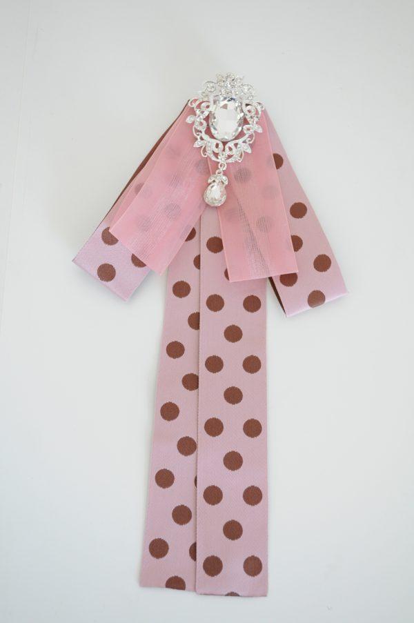 Brosa roz cu buline