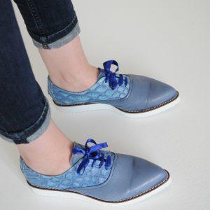 Pantofi albastru deschis