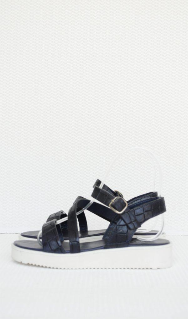 Sandale albastre cu imprimeu