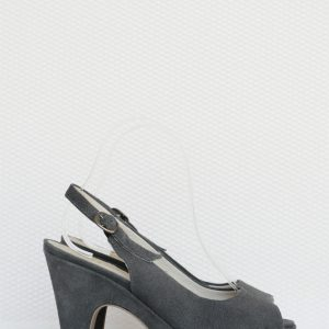 Sandale gri piele intoarsa