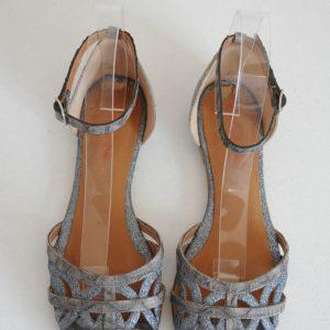 Sandale piele naturala cu sclipici