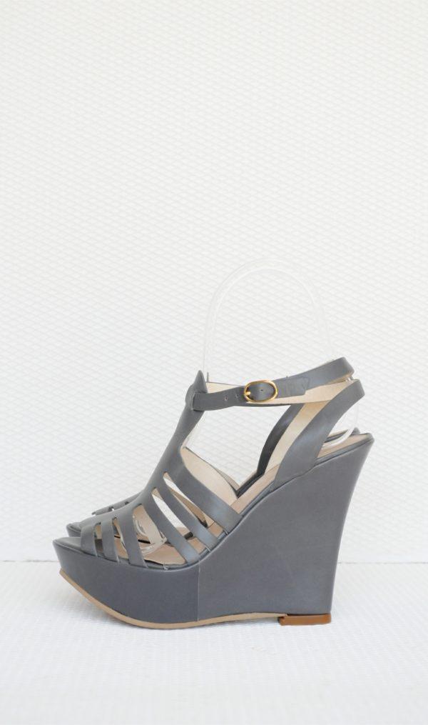 Sandale gri cu platforma