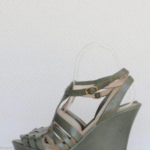 Sandale kaki cu platforma