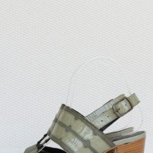 Sandale verzi cu toc mic
