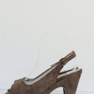 Sandale maro piele intoarsa