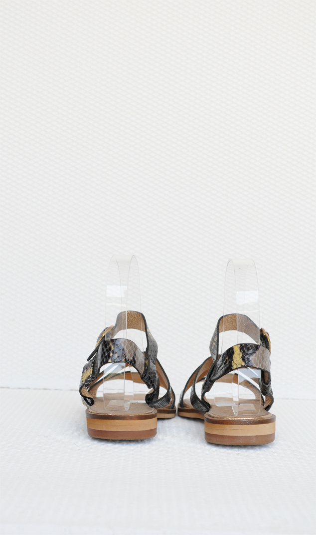 Sandale piele naturala cu talpa joasa