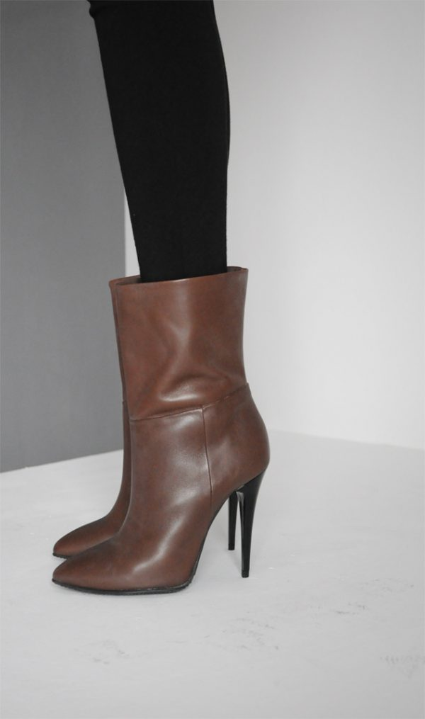 Botine stiletto maro