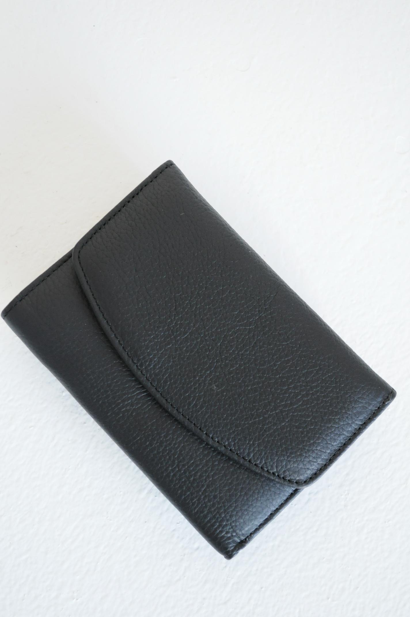 Portofel Jojo piele naturala negru
