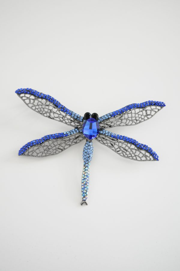 Brosa libelula albastra