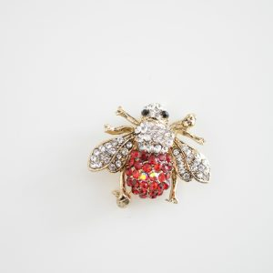 Brosa insecta pietre argintii