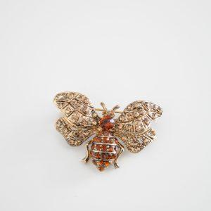 Brosa fluture auriu