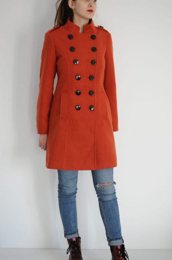 Palton portocaliu elegant