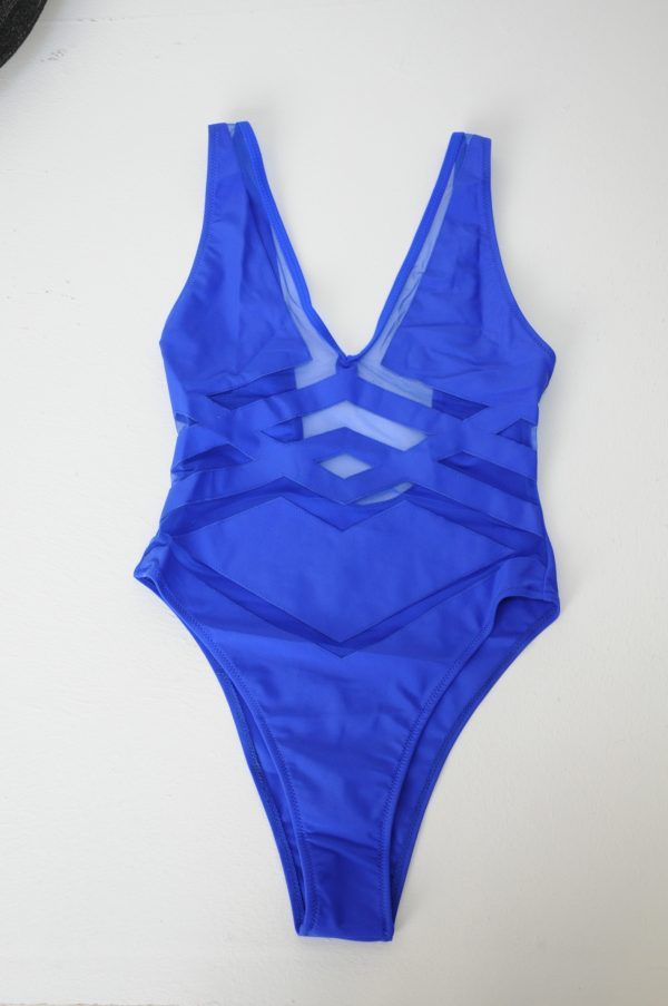 Costum de baie Ania albastru