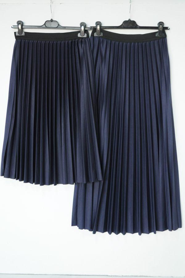 Fusta plisata bleu lunga