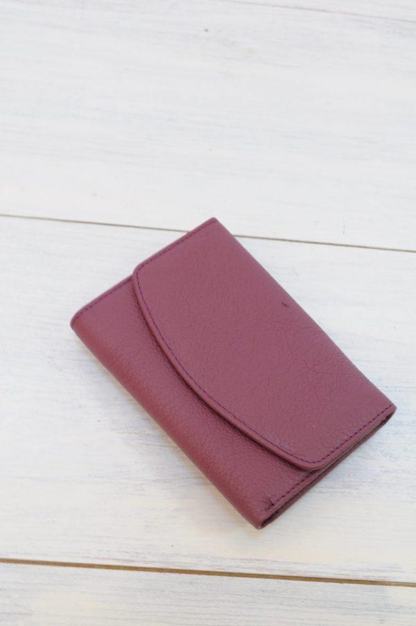Portofel Jojo piele naturala violet