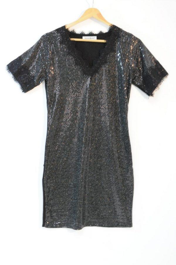 Rochie paiete negre