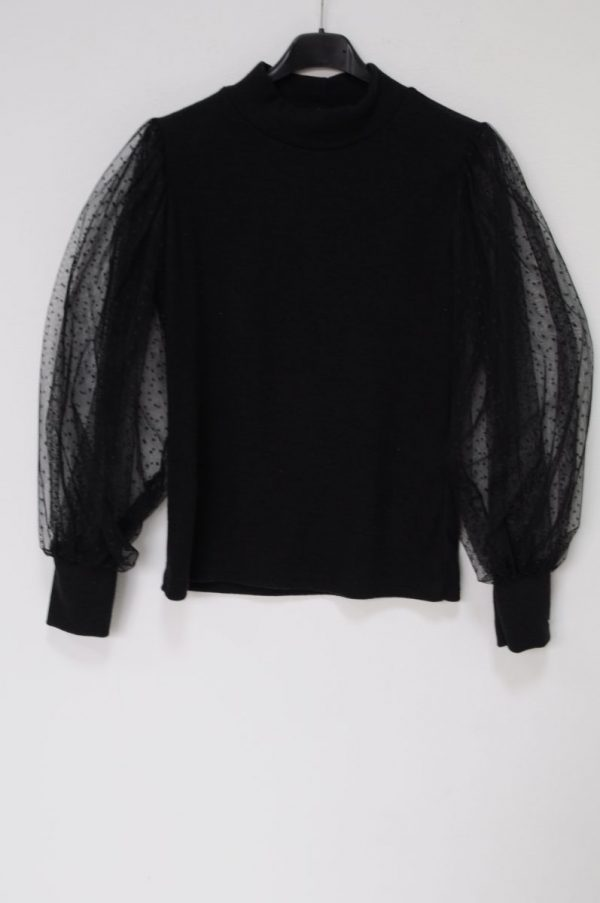 bluza cu maneci din tul